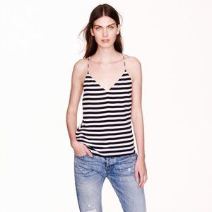 J. Crew Black Striped Carrie Cami Swing Tank